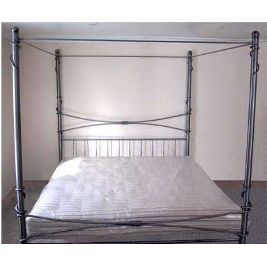 4 poster wrought iron bed. Frame only - For Sale - Gold Coast