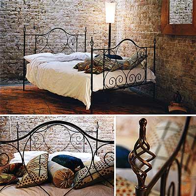 redhouse bed frame 77 handforged wrough iron bed. Black Bedroom Furniture Sets. Home Design Ideas